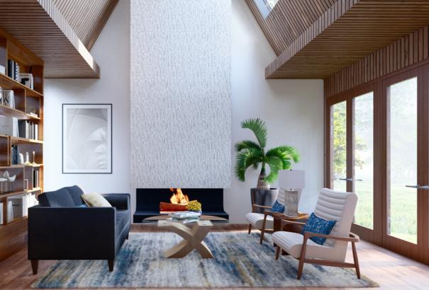 Conceptual Living Room design by Cavalieri Designs