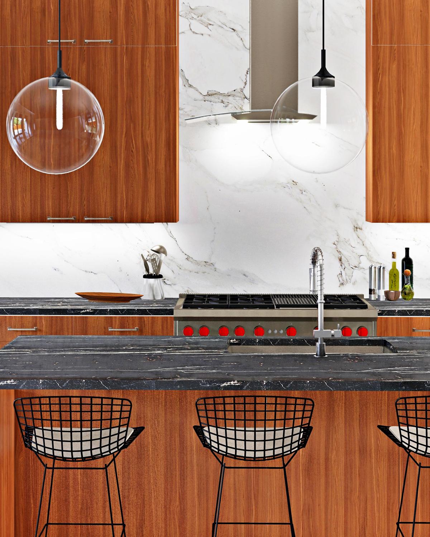 Modern kitchen rendering