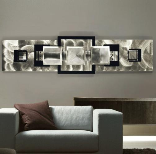polished metal wall art